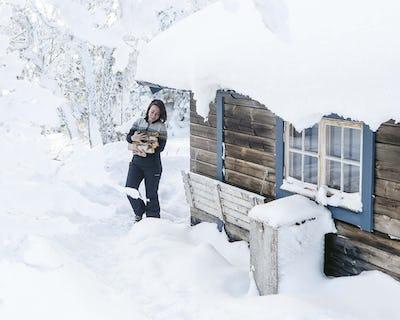 Hüttenabenteuer Jämtland Winter 2018
