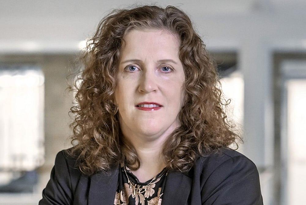 Sandra Jonsson, ordförande i Sveriges Farmaceuter. Foto: Johan Gunseus.